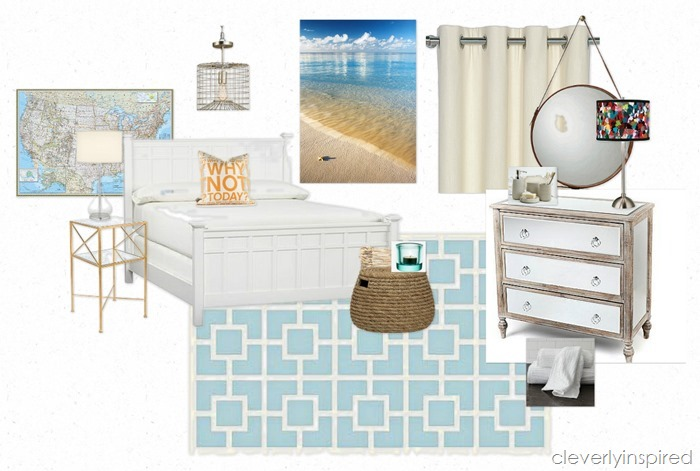 guest bedroom in basement @cleverlyinspired (6)