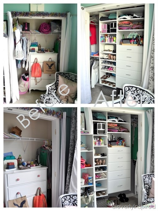 Small reach in closet reveal cleverly inspired for Inspired closets