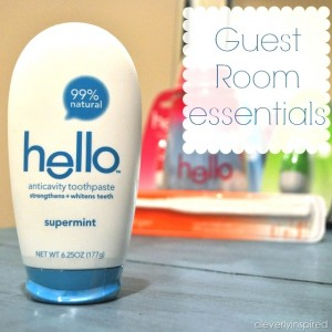 Tips for making a guest feel at home with hello products