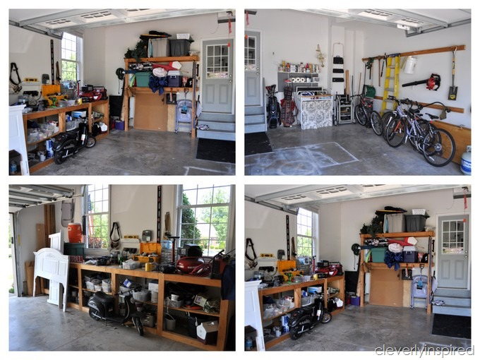 ideas for organizing garage inexpensively