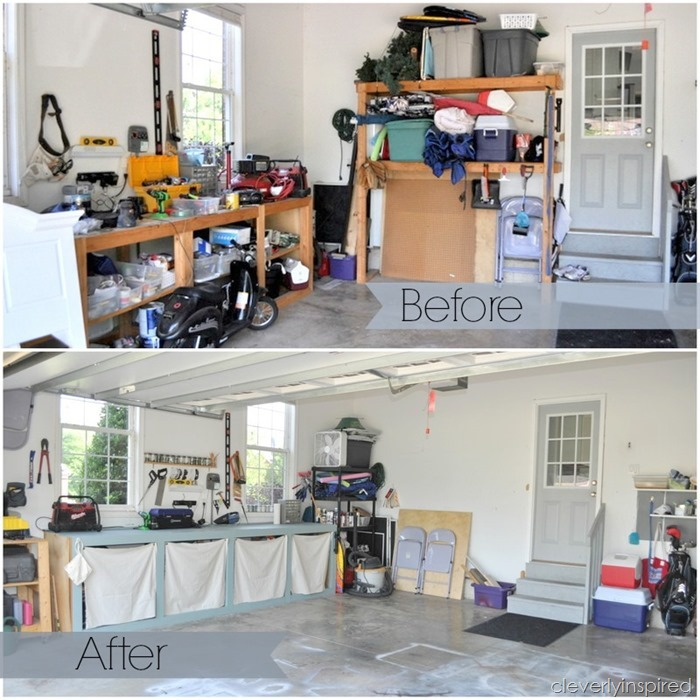ideas to organize the garage @cleverlyinspired (1)ba
