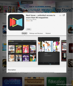 Rid yourself of magazine clutter with Next app