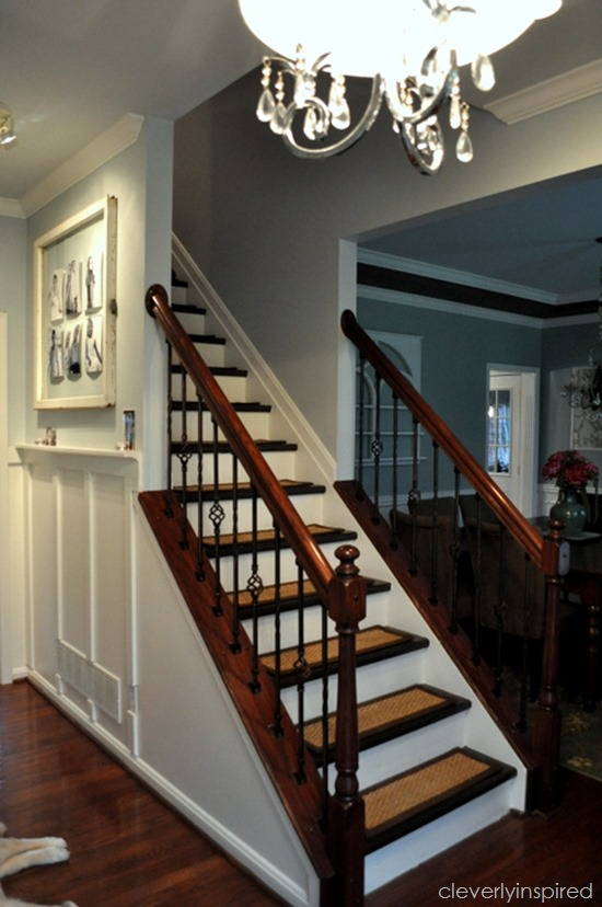 DIY refinished stairs @cleverlyinspired (1)