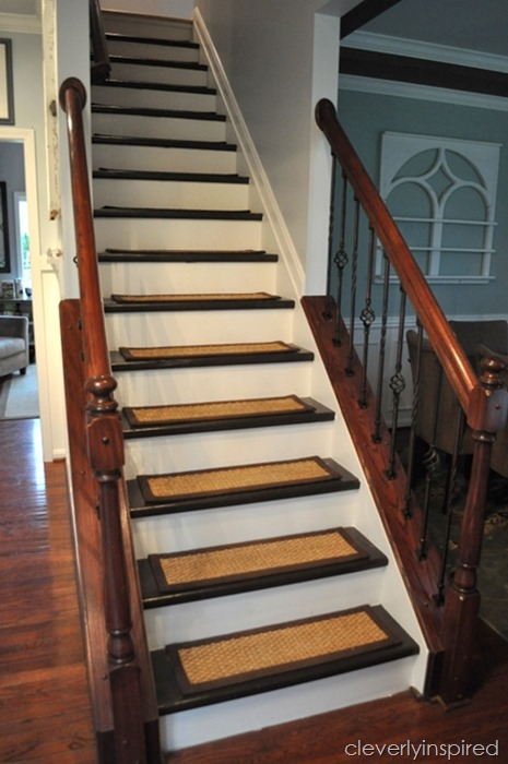 DIY Refinished Stairs Cleverlyinspired 2