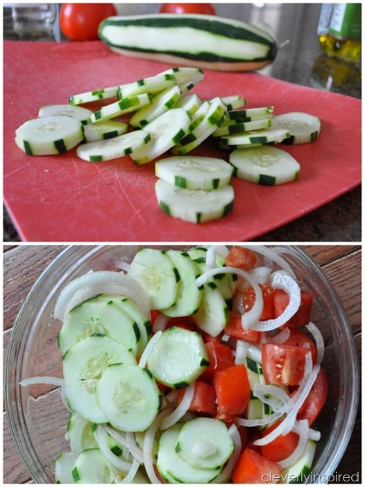easy cucumber & tomato salad @cleverlyinspired (1)