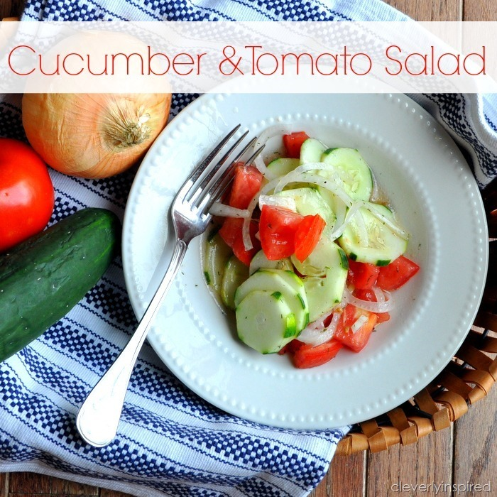 easy cucumber & tomato salad @cleverlyinspired (4)