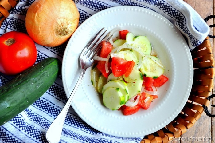easy cucumber & tomato salad @cleverlyinspired (5)