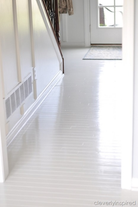 how to paint prefinished hardwood floors reveal @cleverlyinspired (3)