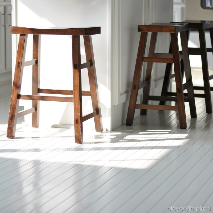 Wonderful Gorgeous!! How To Paint Prefinished Hardwood Floors Reveal  @cleverlyinspired (4)