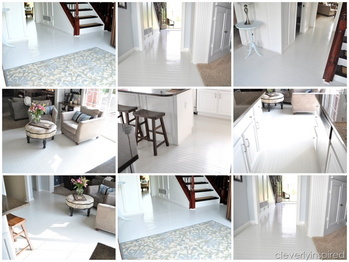 how to paint prefinished hardwood floors reveal @cleverlyinspired (6)