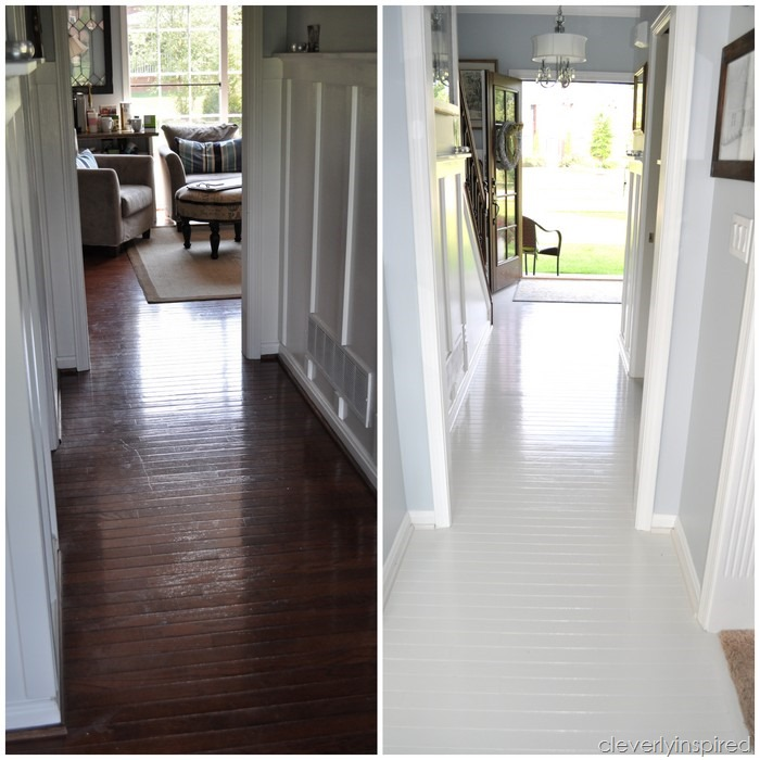 How To Paint Prefinished Hardwood Floors Reveal Cleverlyinspired 8