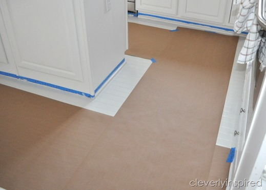 painting a prefinished floor @cleverlyinspired (1)
