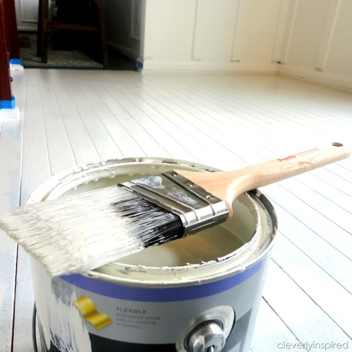 painting a prefinished floor @cleverlyinspired (6)