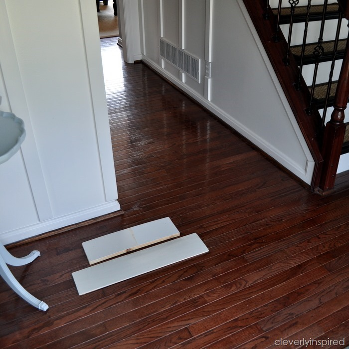 painting a prefinished hardwood floor @cleverlyinspired (1)