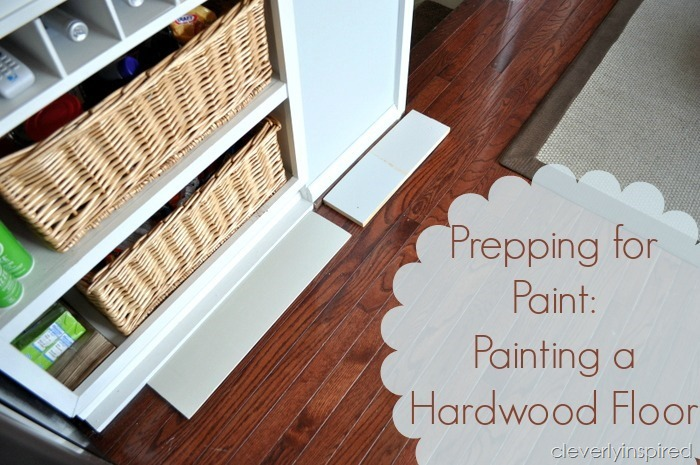 painting a prefinished hardwood floor @cleverlyinspired (3)cv