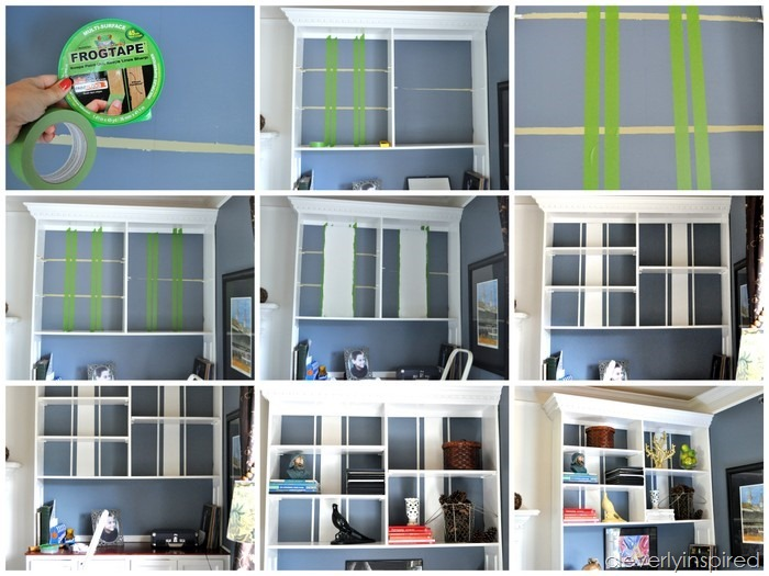 updating the bookshelves with FrogTape @cleverlyinspired (11)