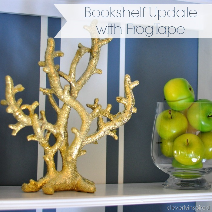 updating the bookshelves with FrogTape @cleverlyinspired (8)