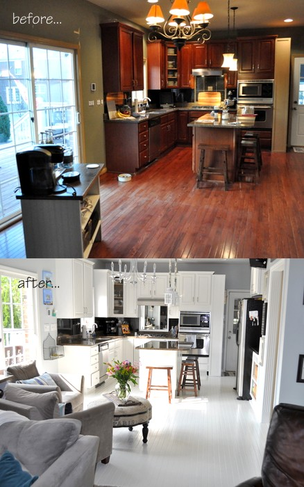 cleverlyinspired how to paint hardwood floor