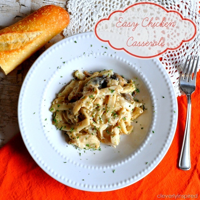 easy chicken casserole (no canned soup) recipe @cleverlyinspired (1)