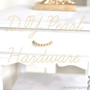 DIY Pearl Hardware (DIY drawer pull) plus a Fall Giveaway!!