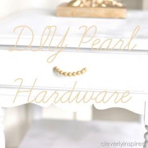 DIY Pearl Hardware (DIY drawer pull) plus a Fall Giveaway!!
