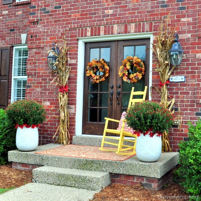 fall porch @cleverlyinspired (3)