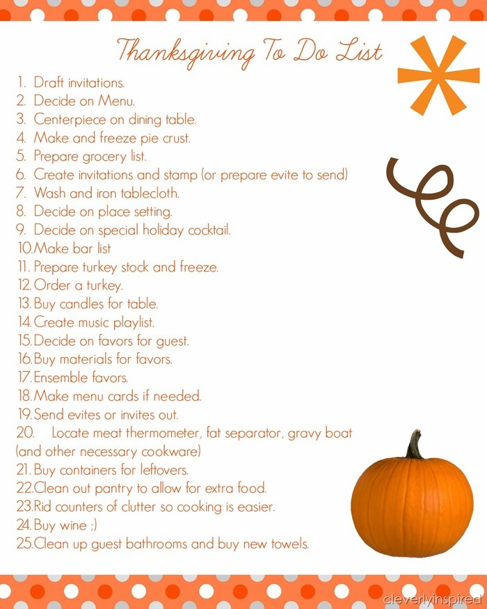 thanksgiving to do list @cleverlyinspired