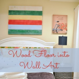 Wood Floor into Wall Art (DIY art)