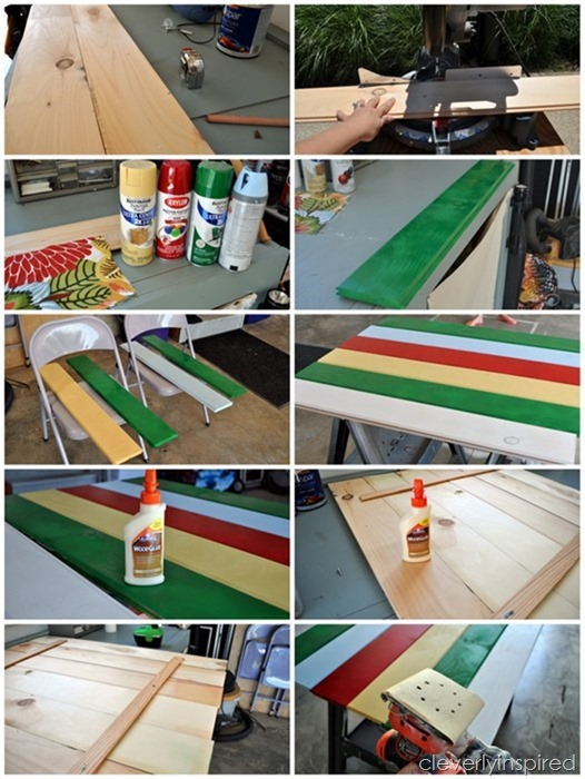 wood floor into wall art (diy art) @cleverlyinspired (6)