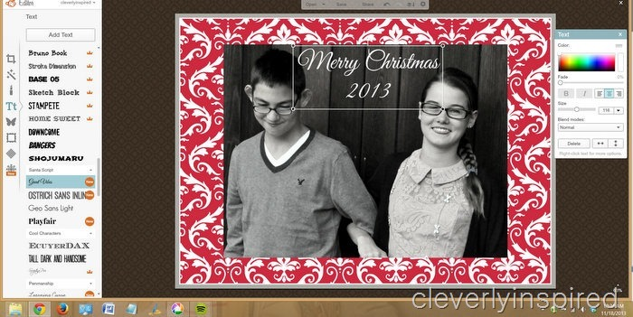 DIY christmas card @cleverlyinspired (7)