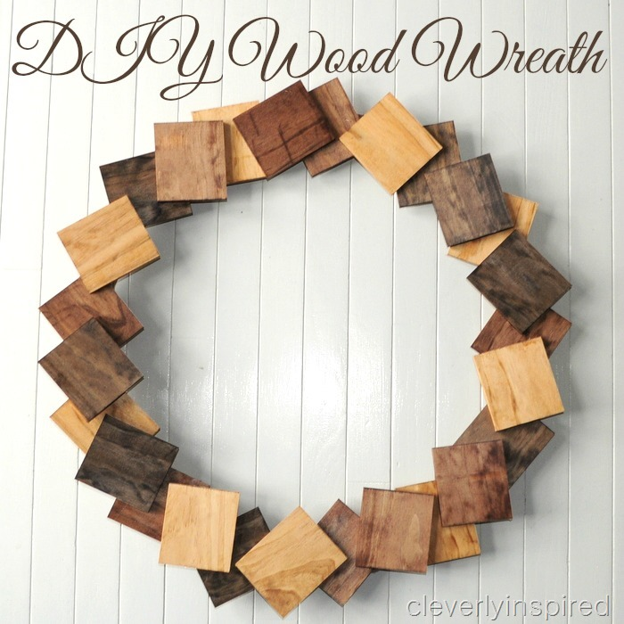 diy wood wreath cleverlyinspired 1
