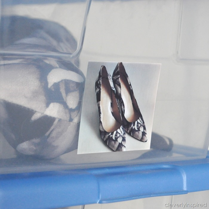 shoe organizatoion with Zink Happy printer @cleverlyinspired (1)