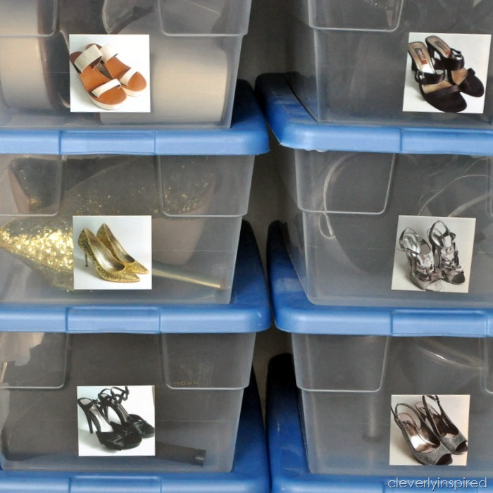 shoe organizatoion with Zink Happy printer @cleverlyinspired (2)