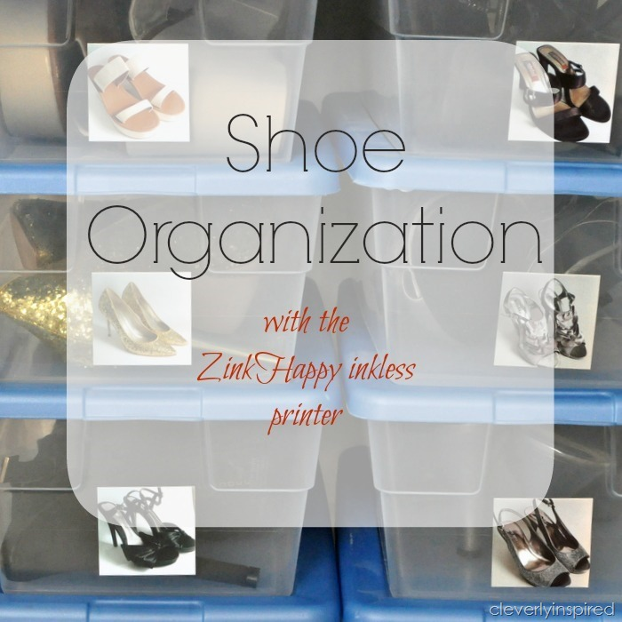 shoe organizatoion with Zink Happy printer @cleverlyinspired (2)cv