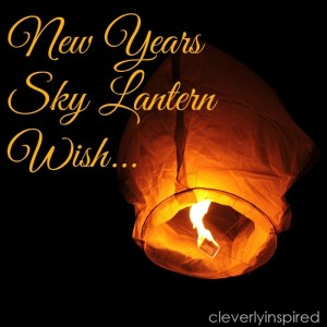 Make a Wish Lantern on New Year's Eve