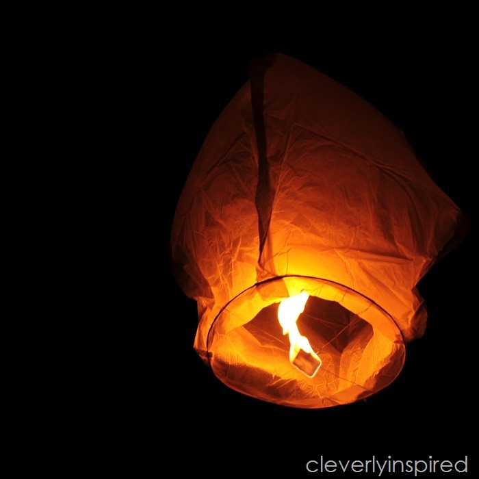 How to use a sky lantern @cleverlyinspired (2)