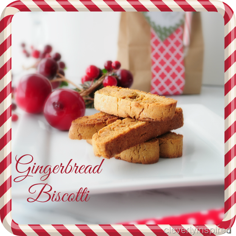 easy gingerbread biscotti recipe @cleverlyinspired (1)