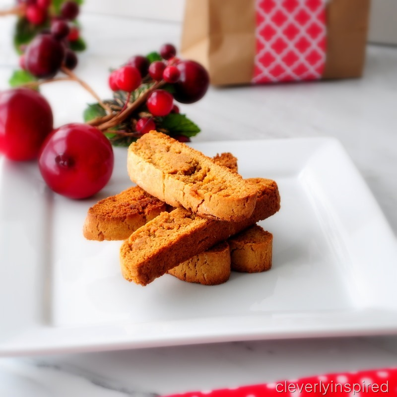 easy gingerbread biscotti recipe @cleverlyinspired (4)
