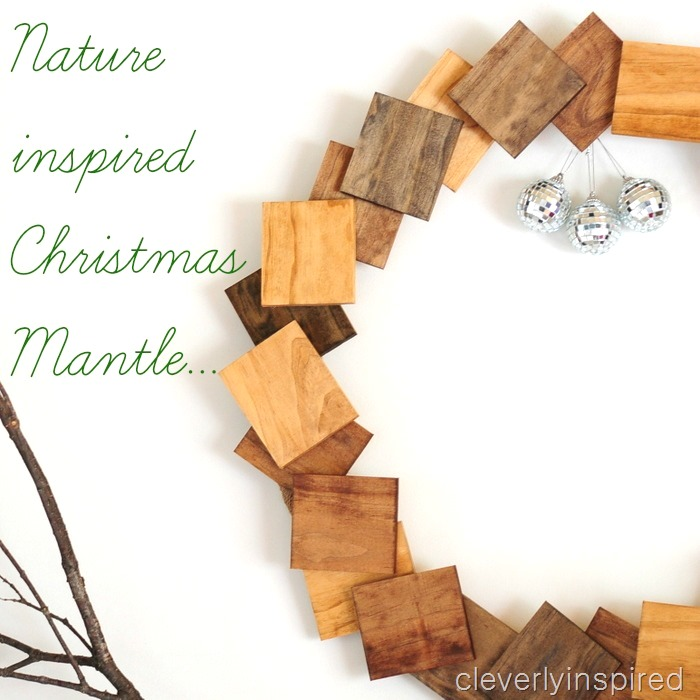 nature inspired Christmas mantle @cleverlyinspired (1)