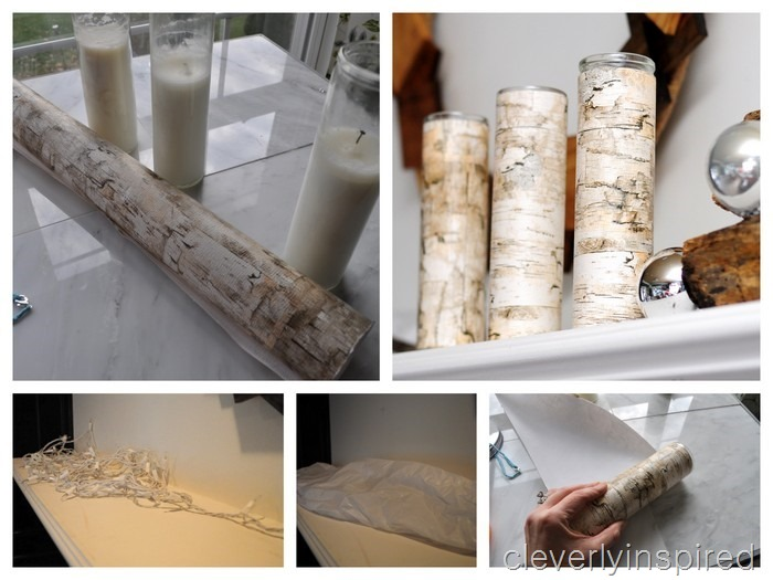 nature inspired Christmas mantle @cleverlyinspired (2)
