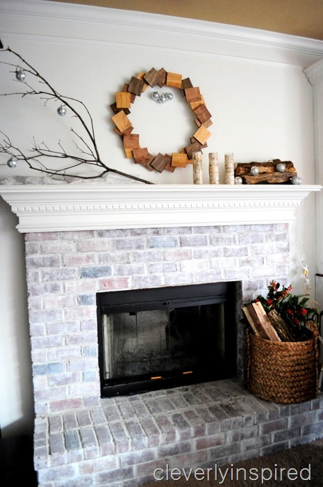 nature inspired Christmas mantle @cleverlyinspired (3)