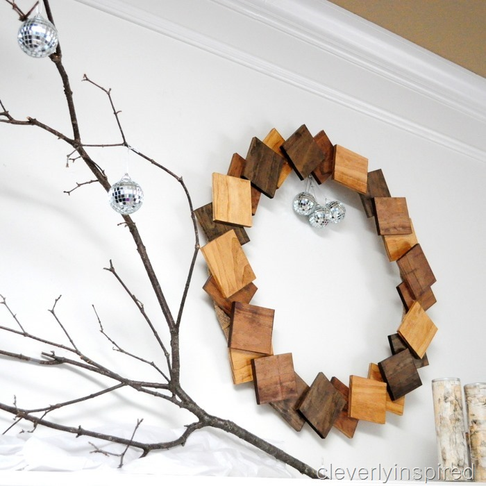 nature inspired Christmas mantle @cleverlyinspired (4)