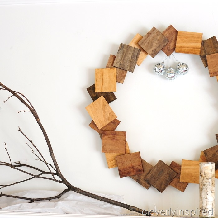 nature inspired Christmas mantle @cleverlyinspired (7)