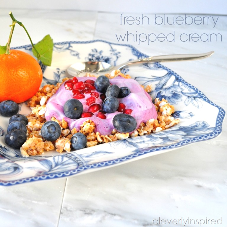 Fresh Blueberry Whipped Cream