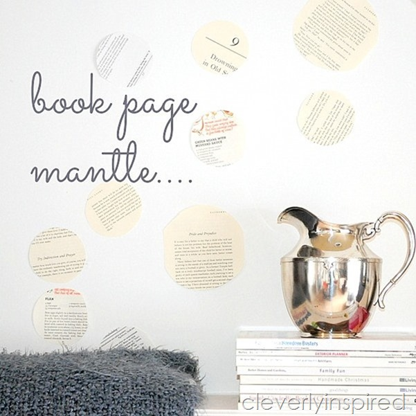 book page repurposed mantle @cleverlyinspired (1)