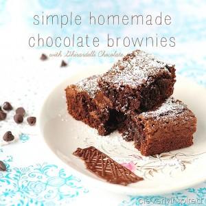No box Chocolate Brownies (Easy Homemade Brownie Recipe)