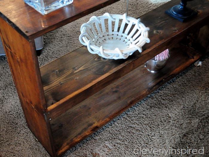 sofa table minwax stain cloths @cleverlyinspired (2)
