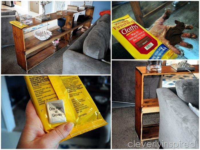 sofa table minwax stain cloths @cleverlyinspired (3)