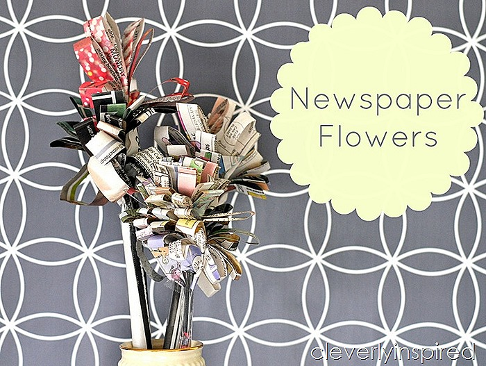make a newspaper flower @cleverlyinspired (2)