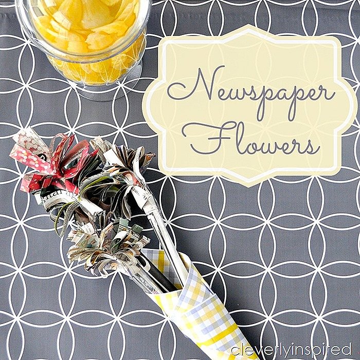 make a newspaper flower @cleverlyinspired (3)